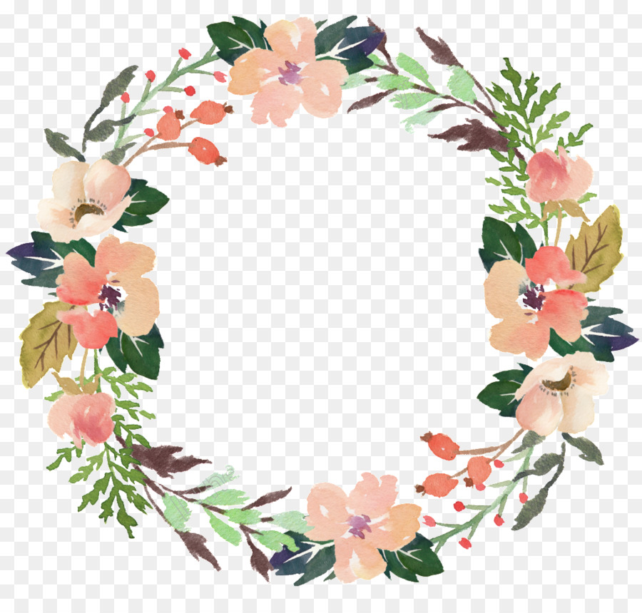 Garland clipart pink and wine no background svg transparent library Free Floral Wreath Transparent Background, Download Free Clip Art ... svg transparent library