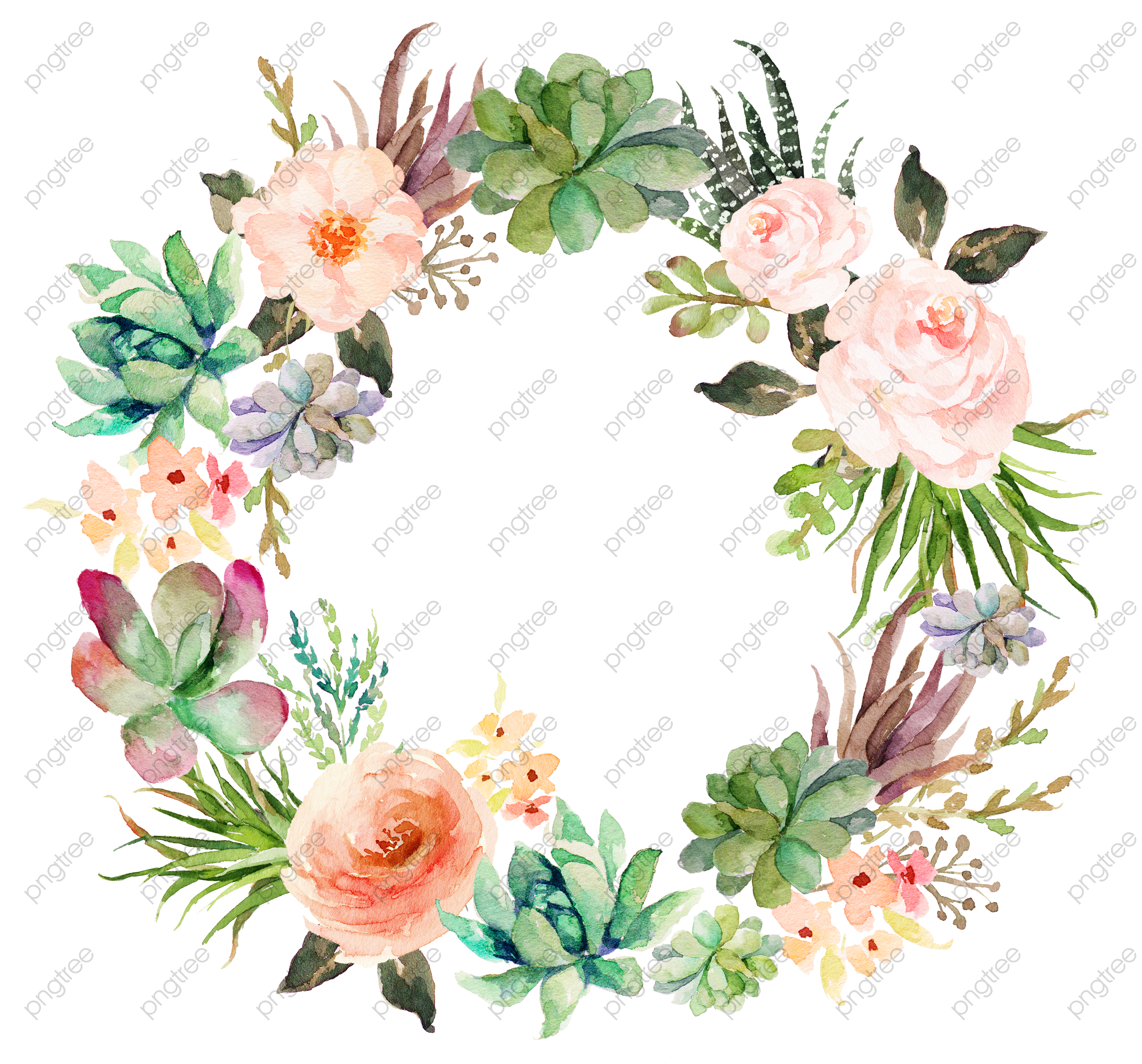Garland clipart pink and wine no background vector library library Transparent beautiful pink fresh garland wreath PNG Format Image ... vector library library