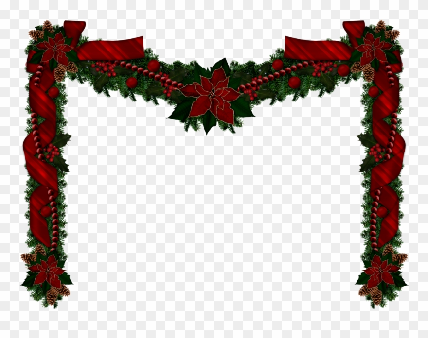 Garlands clipart banner library library Christmas Garlands, Christmas Clipart, Rustic Christmas ... banner library library