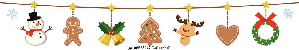 Garlands clipart svg free library Christmas Garland Clip Art - Royalty Free - GoGraph svg free library