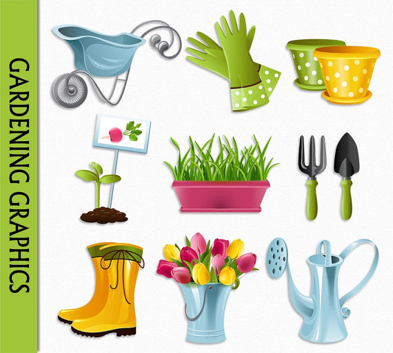 Garten clipart svg download Gartenbau Clipart Blumen Clip Art Grafik Digital Scrapbook svg download