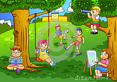 Garten clipart picture royalty free Kids Playing Jumping Rope At The Bridge Royalty Free Stock Photos ... picture royalty free