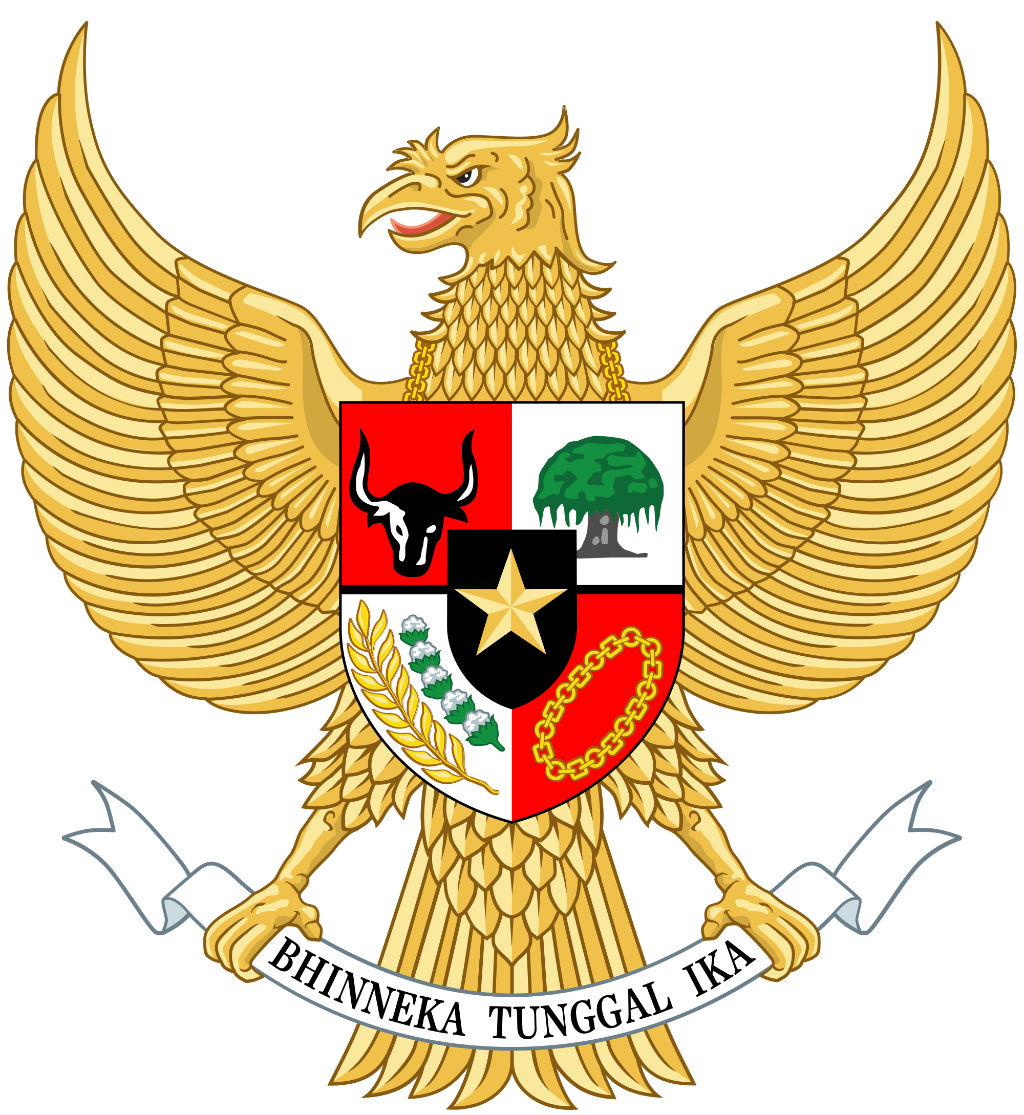 Garuda indonesia clipart svg transparent library National emblem of Indonesia - Wikipedia svg transparent library