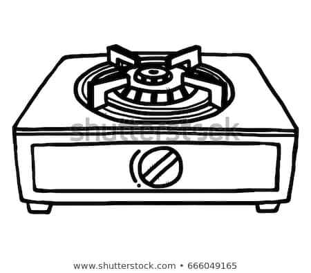 Gas stove clipart black and white graphic Gas stove clipart black and white with fire » Clipart Portal graphic
