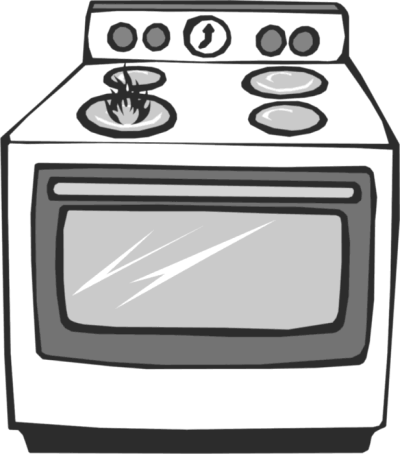 Gas stove clipart black and white image free library Stove PNG - DLPNG.com image free library