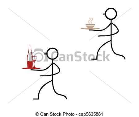 Gastronomie kellner clipart picture EPS Vector of waiter vector silhouettes csp5150164 - Search Clip ... picture