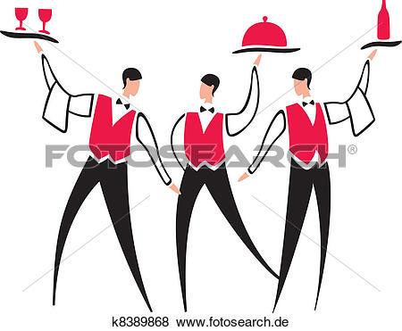 Gastronomie kellner clipart free library Clip Art - kellner, service k8389868 - Suche Clipart, Poster ... free library