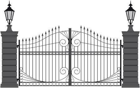 Gate clipart black and white picture black and white stock Gate clipart black and white 3 » Clipart Portal picture black and white stock