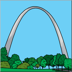 Gateway arch clipart svg freeuse library Clip Art: Gateway Arch Color I abcteach.com | abcteach svg freeuse library