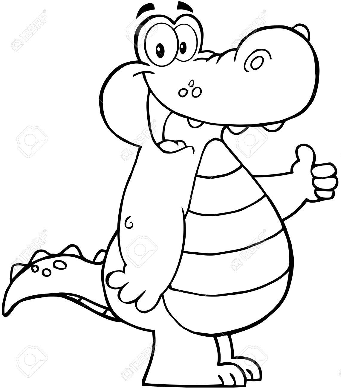 Gator clipart black and white cute banner Cute alligator clipart black and white letters example jpg - ClipartPost banner