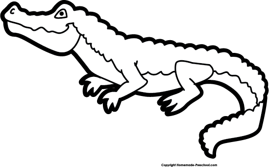Gator clipart black and white cute svg library library alligator Black png - ClipartPost svg library library