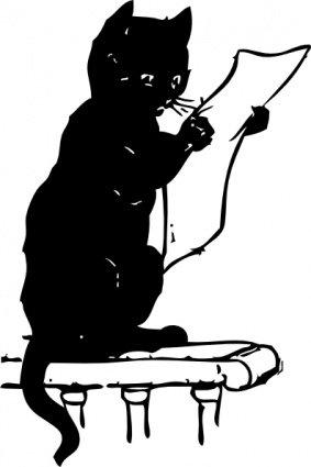 Gatto clipart clip art library Clip art e grafiche vettoriali gratuite di Lettura di gatto - Clipart.me clip art library