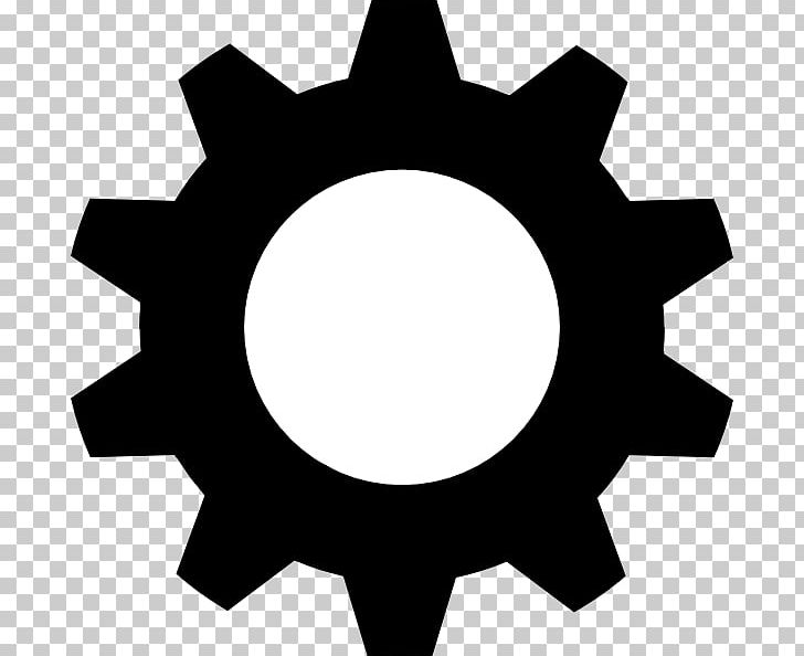 Gear clipart black and white image free library Black Gear PNG, Clipart, Bicycle Gearing, Black And White, Black ... image free library