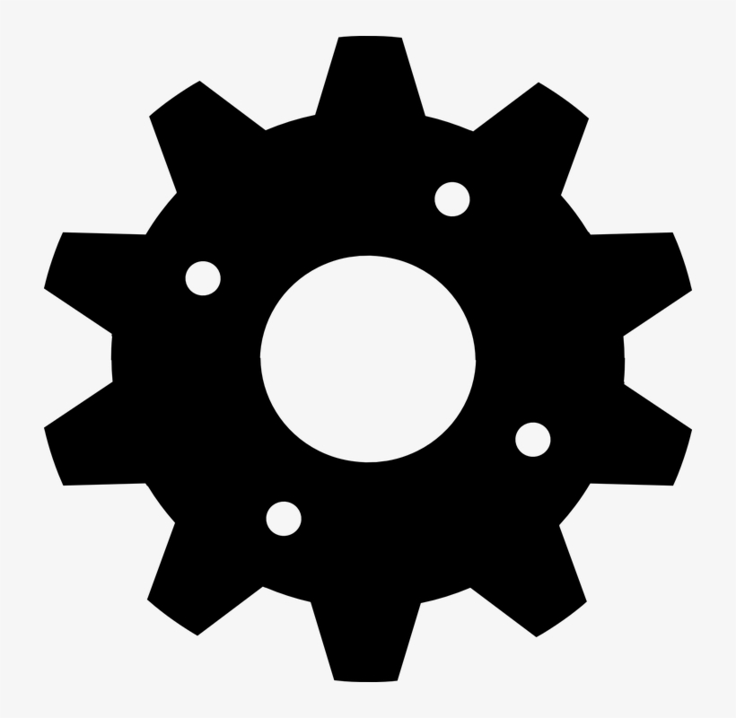 Gear clipart black and white image library download Cogwheel Black Gear - Gear Clipart Black And White Transparent PNG ... image library download