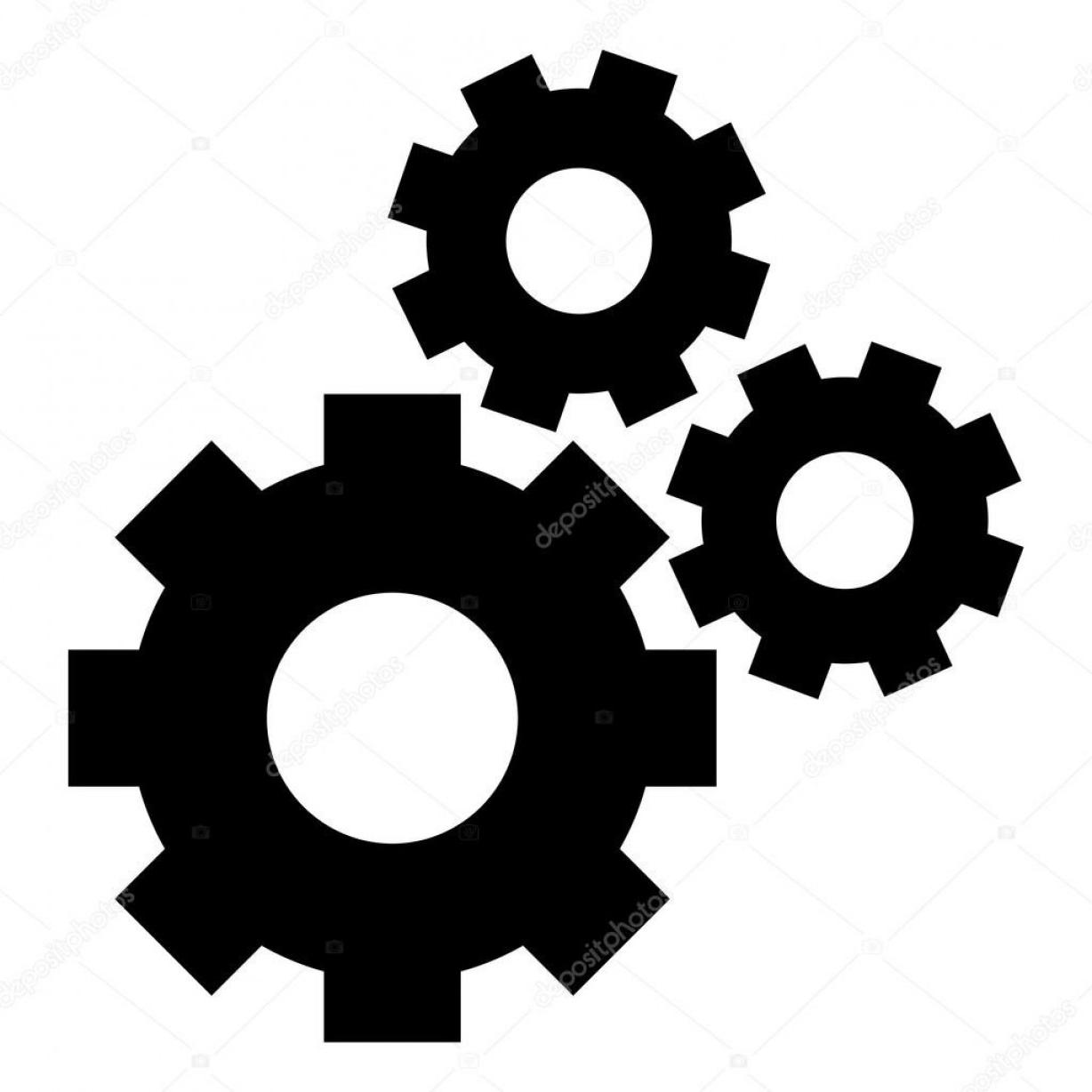 Gear clipart vector banner black and white download HD Gear Vector Art Library » Free Vector Art, Images, Graphics & Clipart banner black and white download
