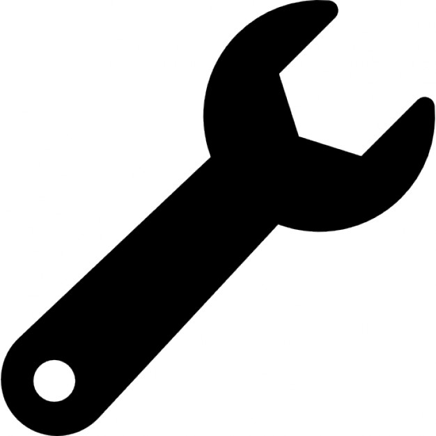 Gear clipart vector wrench free to use banner black and white download Wrench Icon Free #67501 - Free Icons Library banner black and white download
