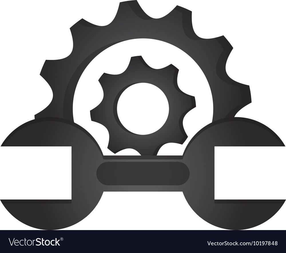 Gear clipart vector wrench free to use image freeuse stock Gear and wrench icon vector image on VectorStock image freeuse stock
