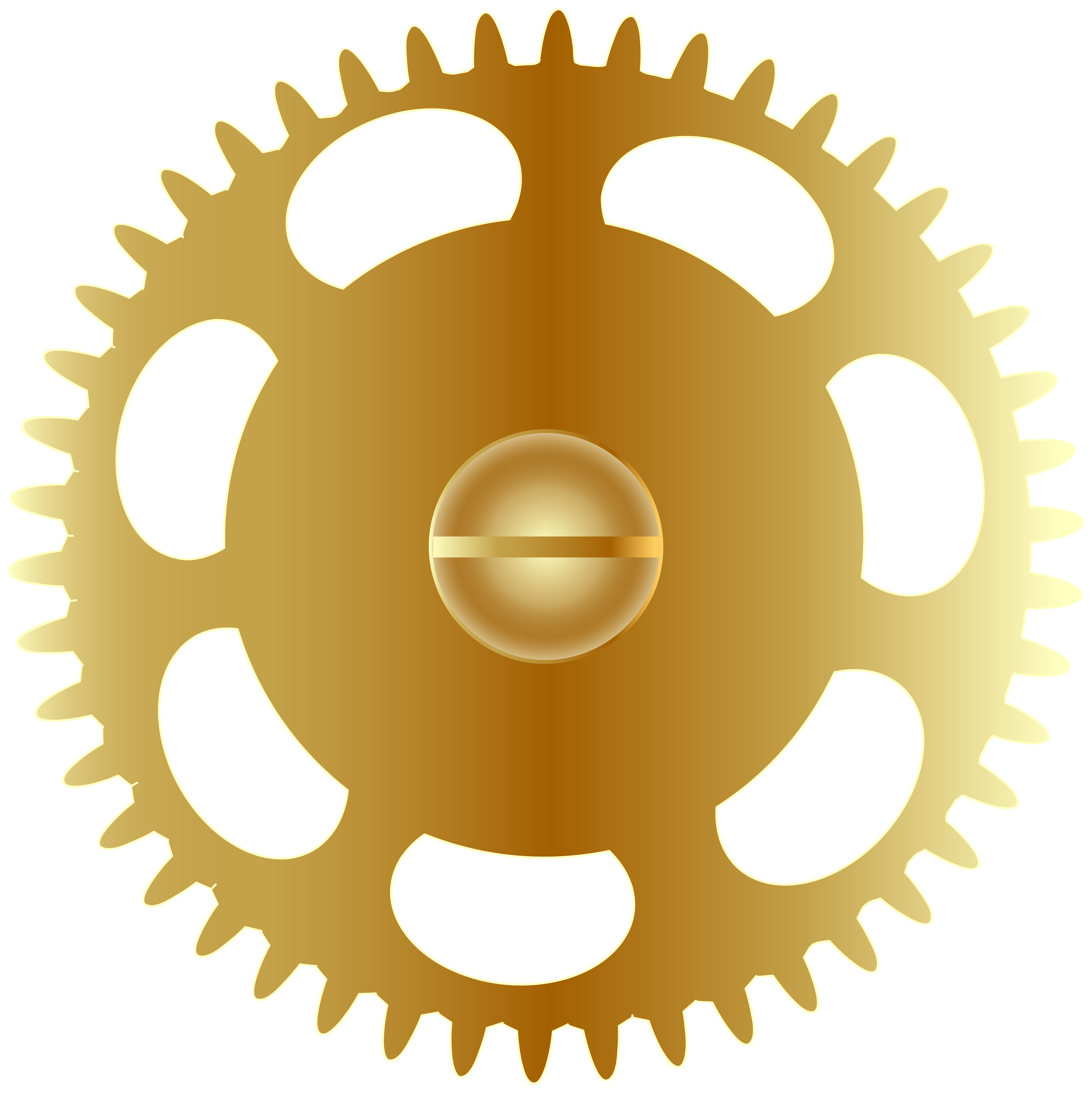 Gear heart clipart banner royalty free library Gold Steampunk Gear PNG Clip Art Image | Gallery Yopriceville ... banner royalty free library