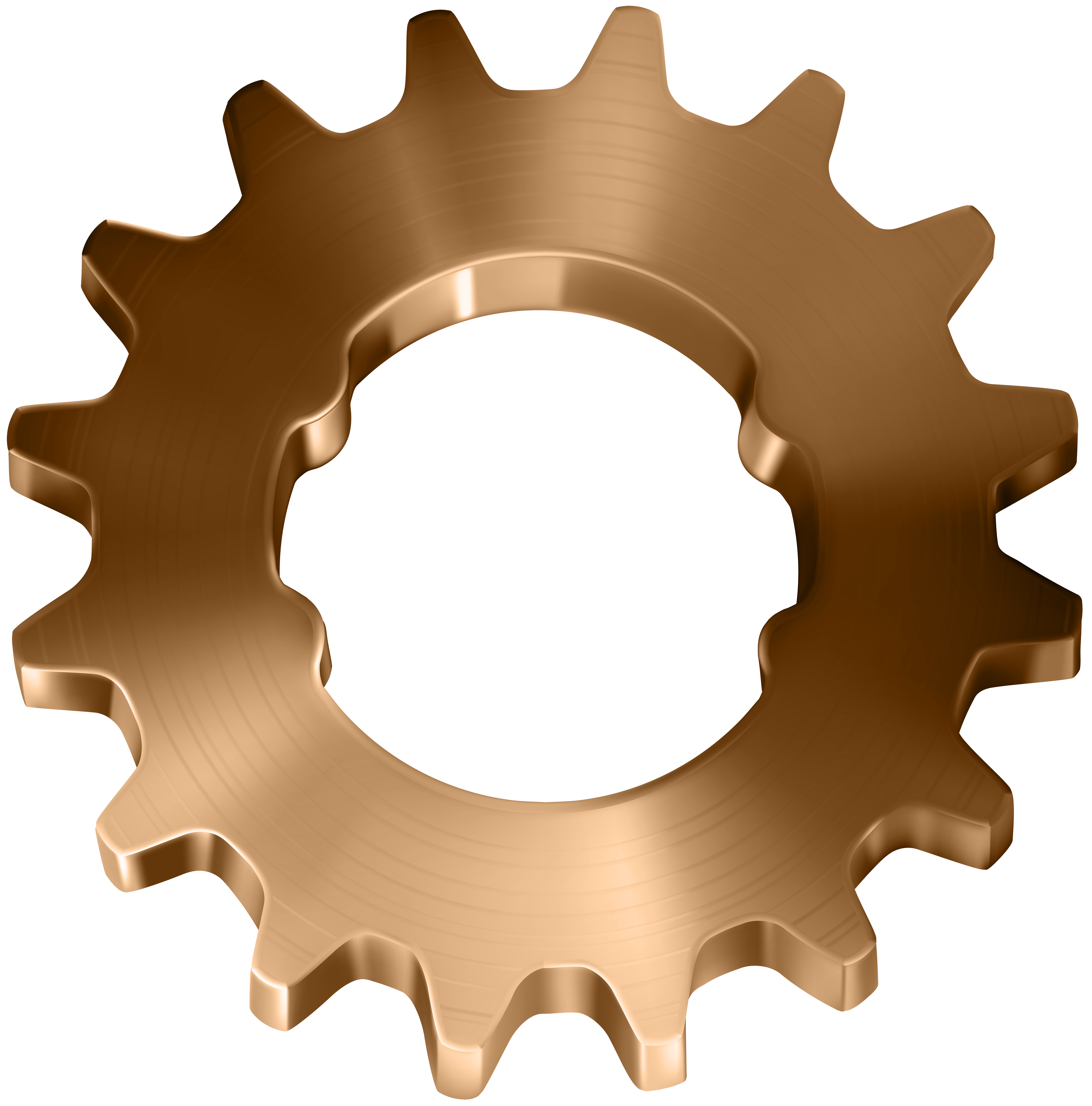 Gear heart clipart vector freeuse download Copper Gear Transparent Clip Art Image | Gallery Yopriceville ... vector freeuse download