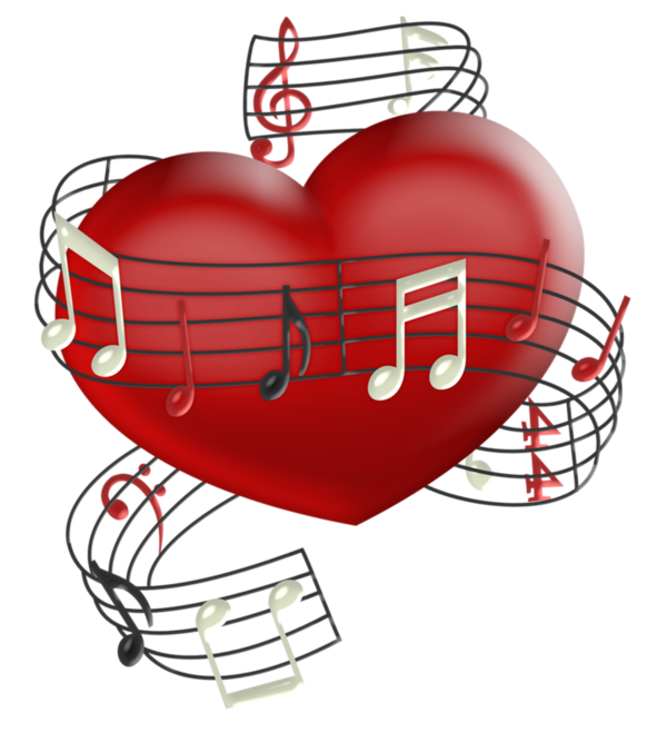 Musical heart clipart clip freeuse La música es el verdadero lenguaje universal.