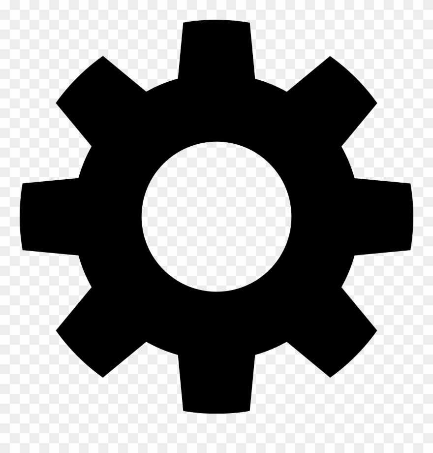 Gear icon clipart clipart black and white download Grapevine Clipart - Transparent Gear Icon - Png Download (#172501 ... clipart black and white download
