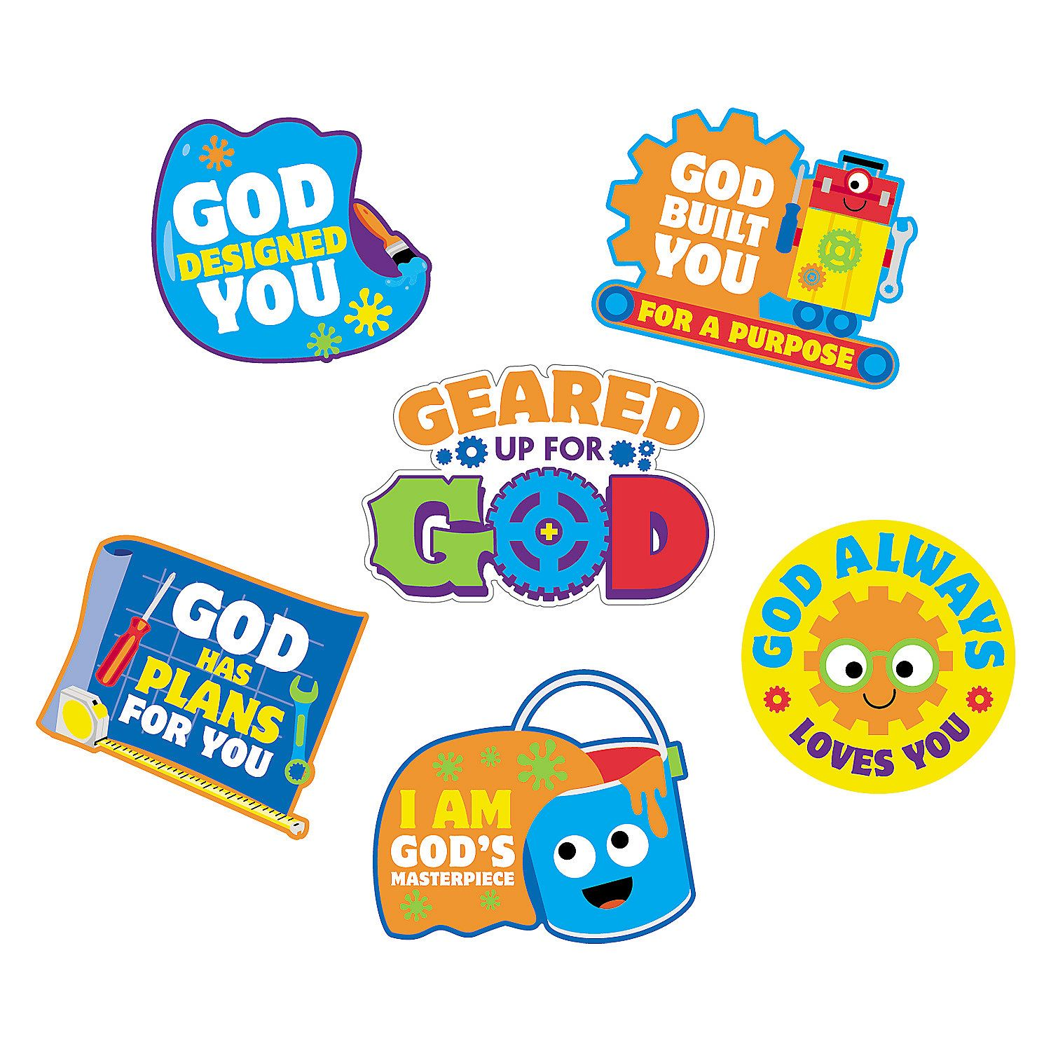 Geared up for god vbs clipart black and white vector freeuse library Geared+Up+for+God+VBS+Cutouts+-+OrientalTrading.com | maker fun ... vector freeuse library