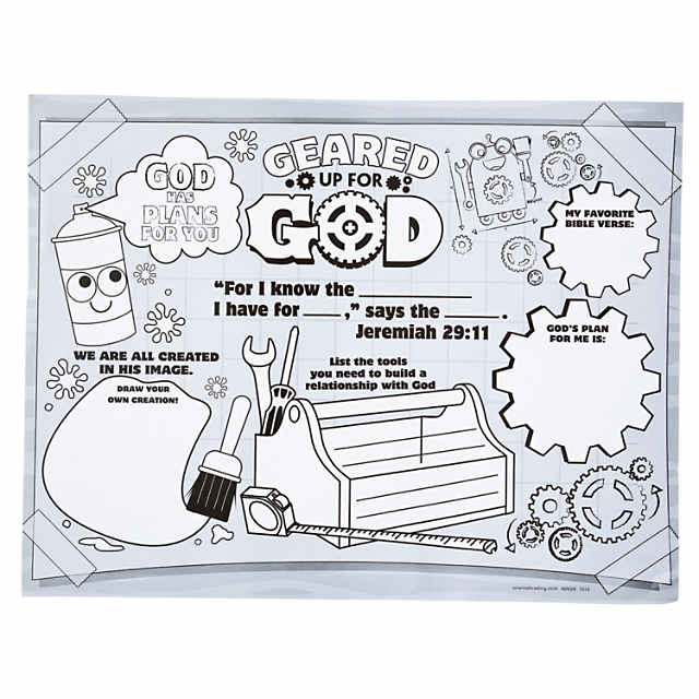 Geared up for god vbs clipart black and white freeuse Color Your Own Geared Up for God VBS Posters - Discontinued freeuse