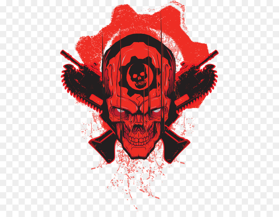 Gears of war logo clipart graphic black and white download Red Skull png download - 512*684 - Free Transparent Gears Of War 4 ... graphic black and white download