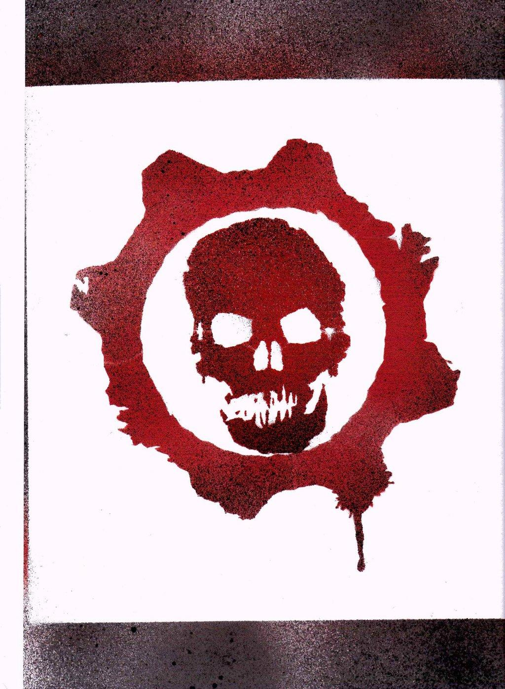 Gears of war logo clipart clip free download Best Gears Of War Stencil Vector Images » Free Vector Art, Images ... clip free download