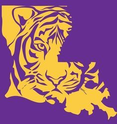 Mike the tiger clipart image royalty free library Free Printable Lsu Logo Clipart - Free Clip Art Images | lsu | Lsu ... image royalty free library