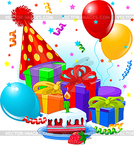 Geburtstag clipart banner royalty free gifts and decorations - vector image banner royalty free