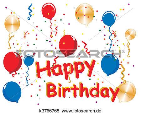 Geburtstag feiern clipart image free download Clip Art - alles gute geburtstag, feiern k3766768 - Suche Clipart ... image free download