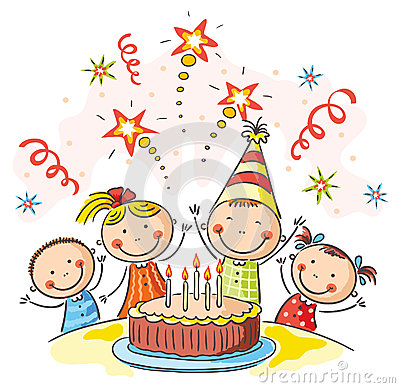 Geburtstag kindergarten clipart clip transparent stock Scherzt Geburtstagsfeier Stock Illustrationen, Vektors, & Klipart ... clip transparent stock