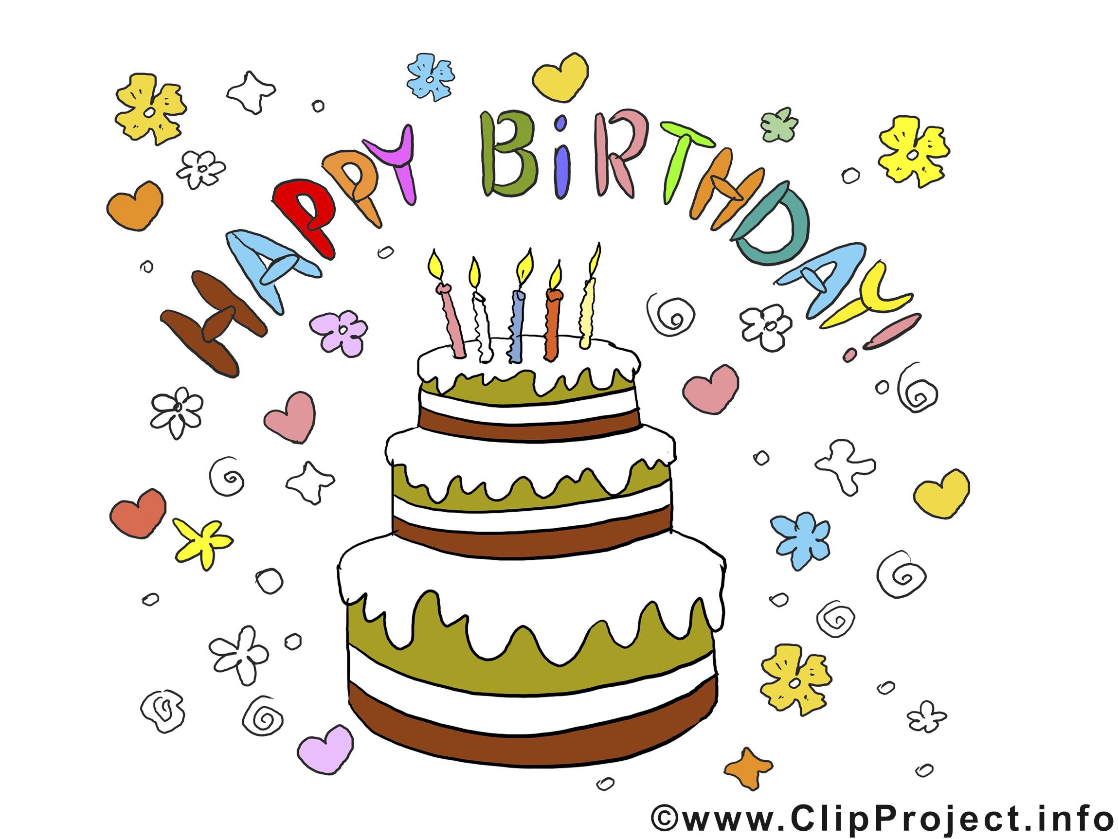 Geburtstag torte clipart jpg free stock Geburtstag Bilder, Cliparts, Cartoons, Grafiken, Illustrationen ... jpg free stock