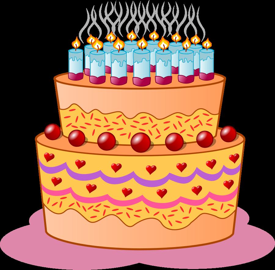 Geburtstag torte clipart transparent stock Birthday cake medium 600pixel clipart, vector clip art - ClipartsFree transparent stock