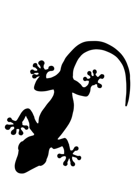 Gecko clipart clip art library library Gecko Leopard Gecko clipart silhouette dxf File Free Download - 3axis.co clip art library library