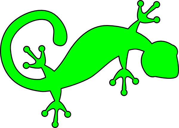 Gecko free royalty free clipart picture black and white library Bright Green Gecko Clip Art at Clker.com - vector clip art online ... picture black and white library