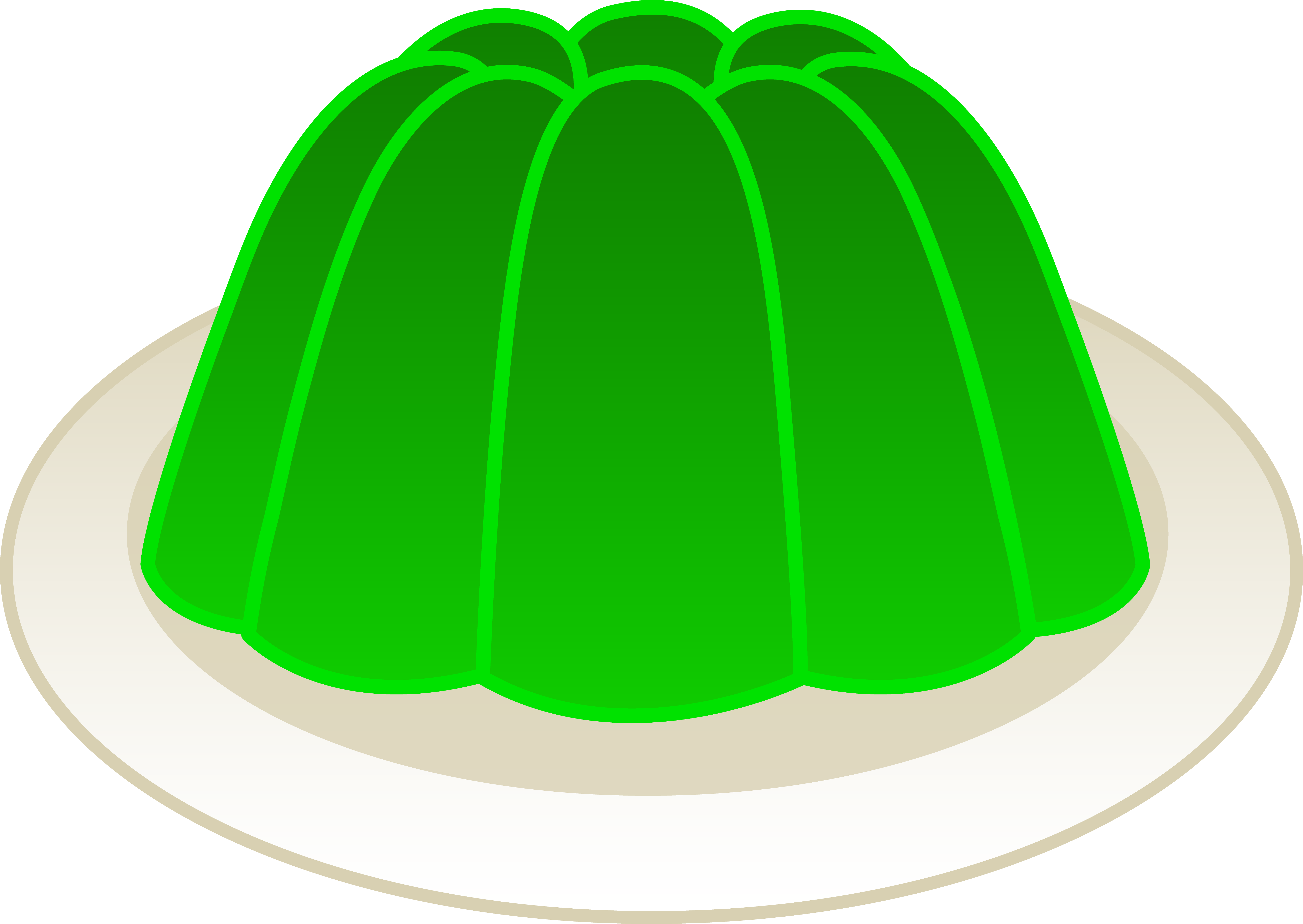 Gelatin clipart royalty free library Lime Green Gelatin Mold - Free Clip Art royalty free library