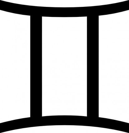 House of gemini jewellery clipart svg black and white stock Zodiac Gemini clip art | clipart zodiac | Gemini moon sign, Gemini ... svg black and white stock