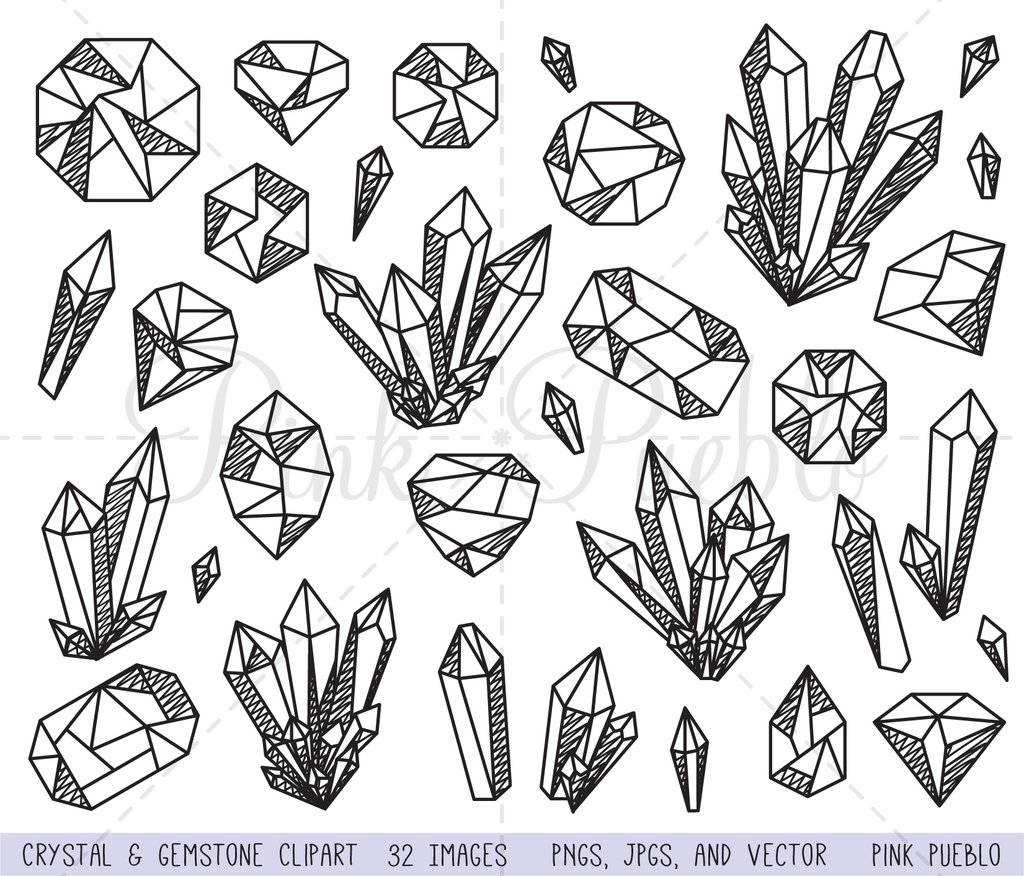 Gemstone clipart picture transparent stock Crystal and Gemstone Clipart and Vectors picture transparent stock