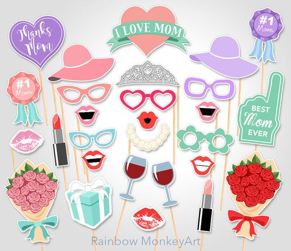 Gender neutral mothers day clipart jpg library Printable Mother\'s Day Photo Booth Props - Mother\'s Day Photobooth ... jpg library