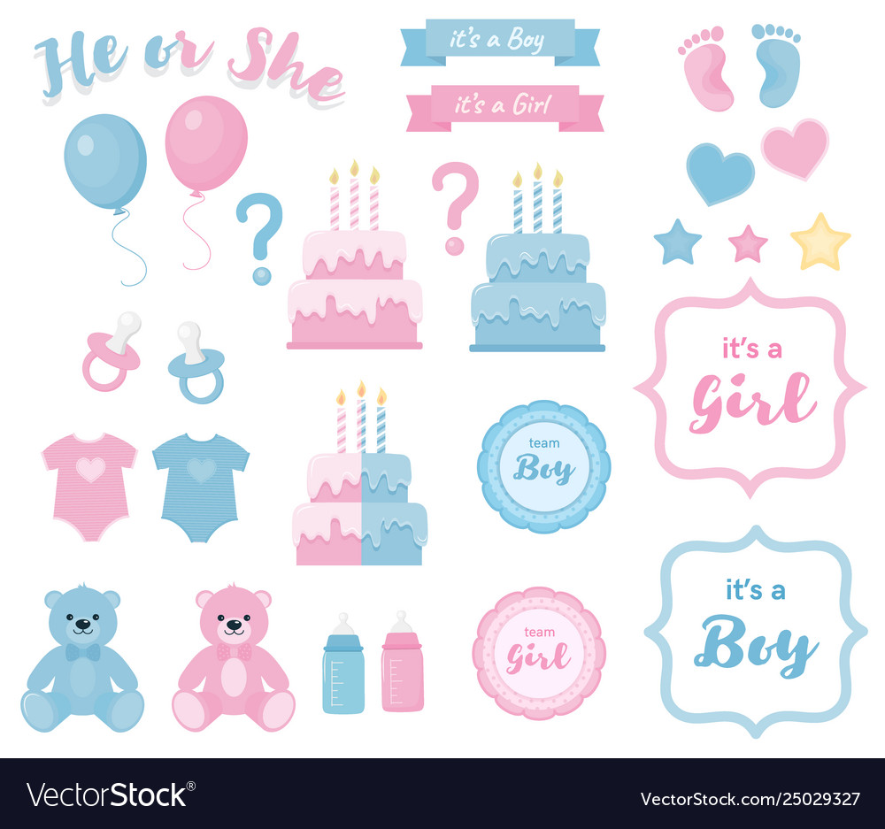 Gender reveal clipart png free Gender reveal clipart with banners and framesblue png free