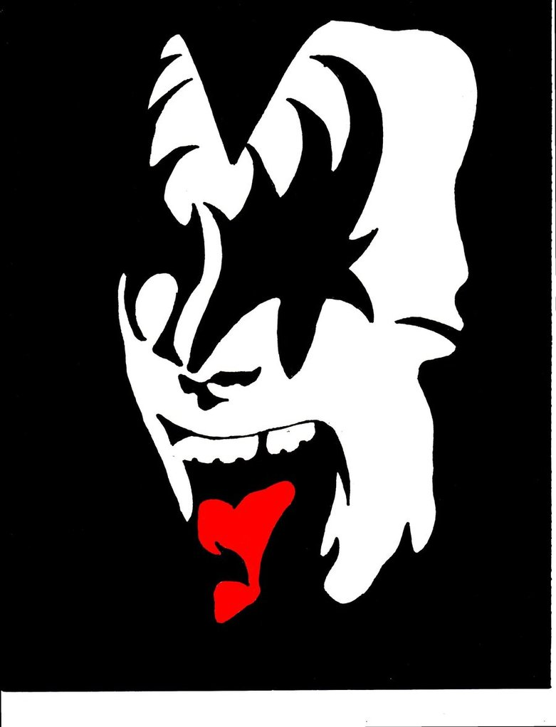 Gene simmons clipart graphic free library Gene Simmons Makeup Stencil Printable - Clip Art Library graphic free library