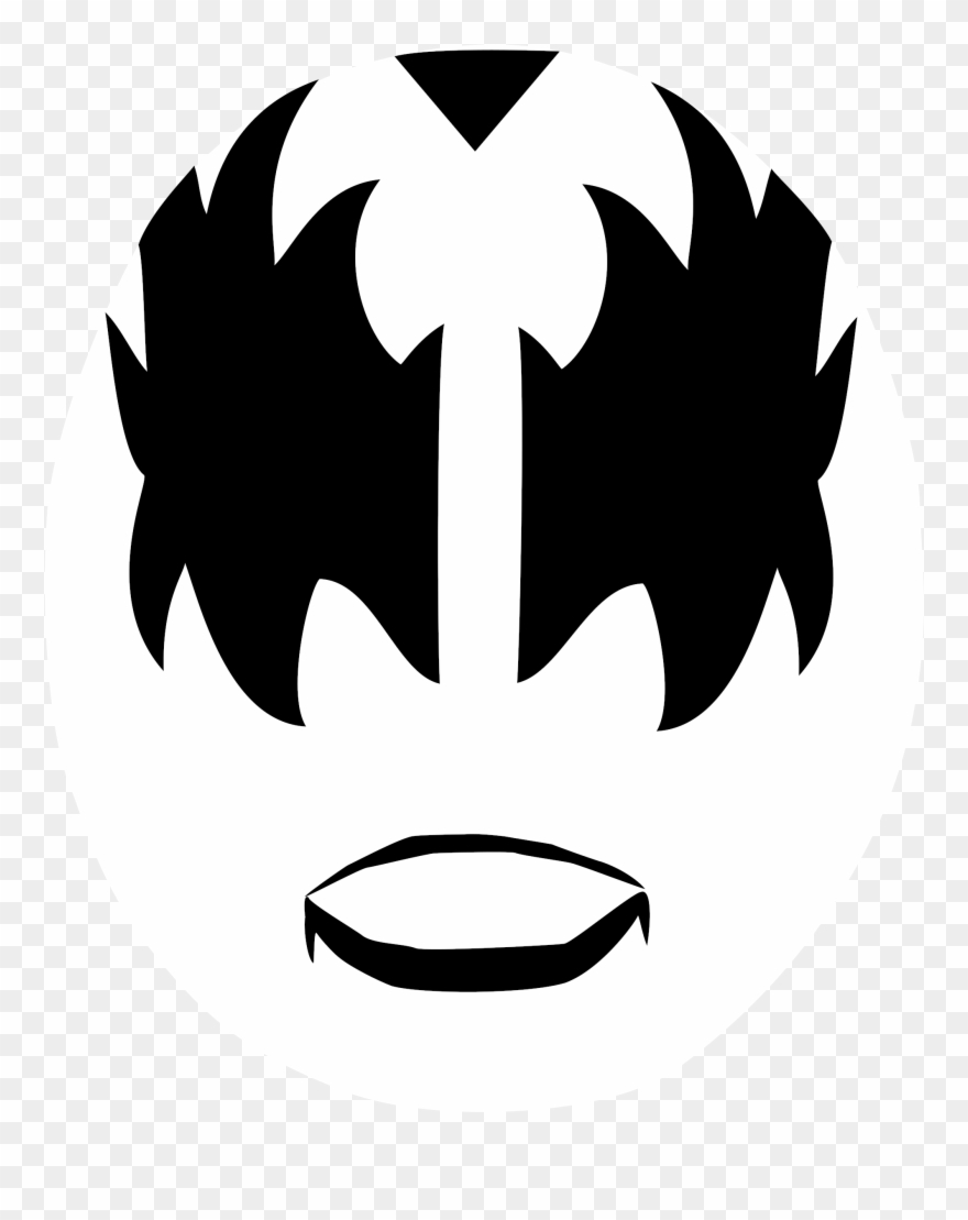Gene simmons clipart transparent download Tiger Face Stencil 21, Buy Clip Art - Gene Simmons Makeup - Png ... transparent download