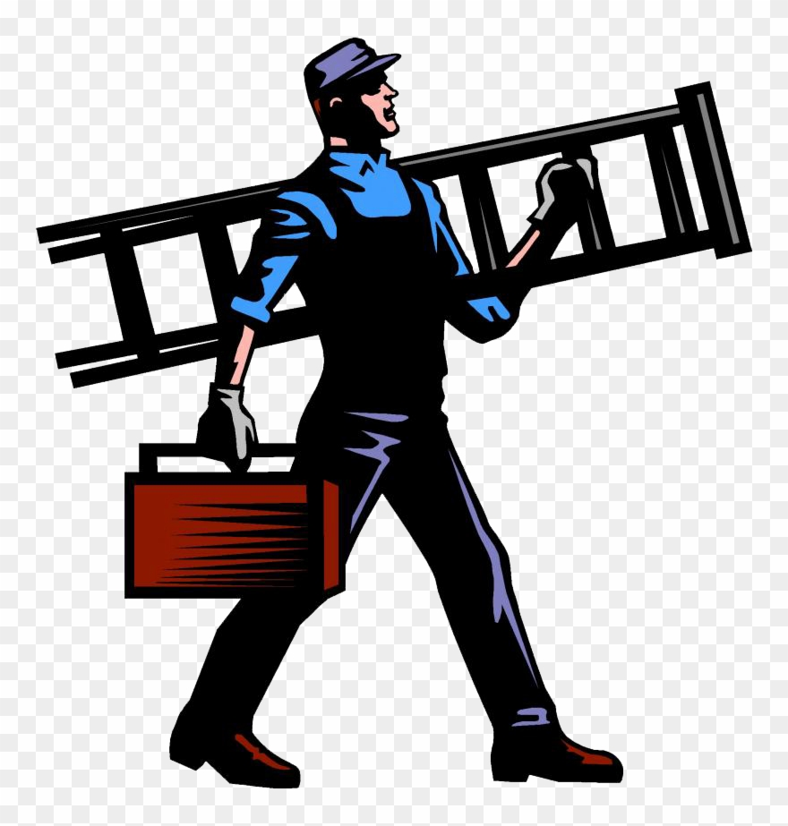 Contractor on phone clipart graphic royalty free download Free General Contractor Clipart - Painting Handyman - Png Download ... graphic royalty free download