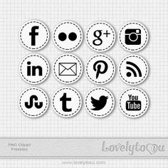 Generic social media clipart image free Free social media icons from Print Smitten - based from Pantone's ... image free
