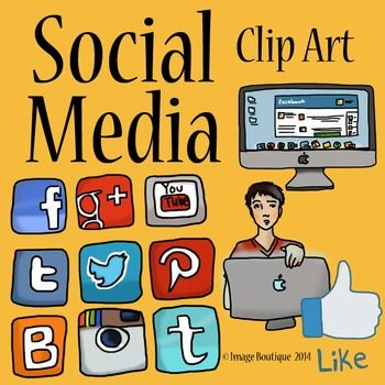 Generic social media clipart clip freeuse Social Media Clip Art | High schools, Teacher pay teachers and The ... clip freeuse
