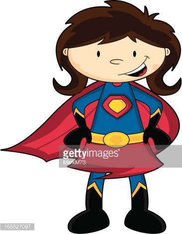 Generic super boy and super girl clipart clipart library download Generic Cute Brunette Cartoon Super Girl Character Vector Art ... clipart library download