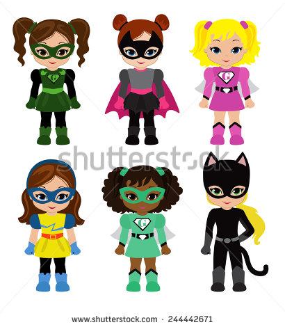 Generic super boy and super girl clipart png free library Super Clip Art Stock Vectors & Vector Clip Art | Shutterstock png free library