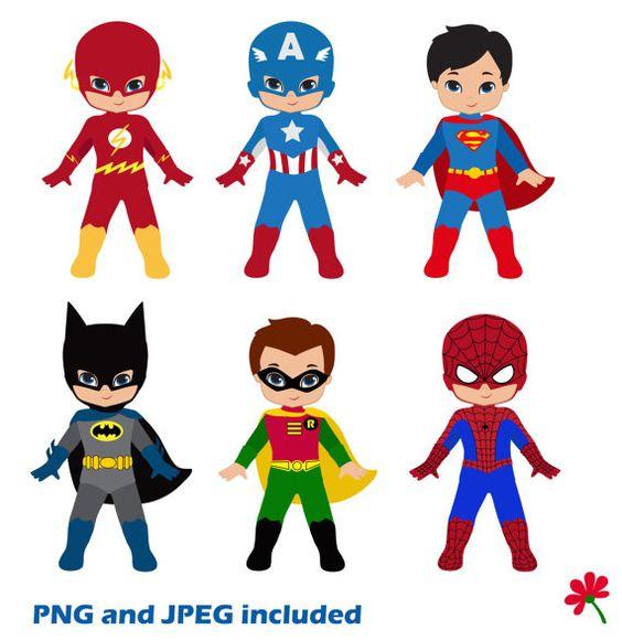 Generic super boy and super girl clipart clipart royalty free Boy Superhero Clip Art / Little Boys Superheroes / Superboys ... clipart royalty free
